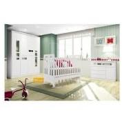 Quarto Infantil Bebê Completo Henn Maçã do Amor QI05 - Cor Branco