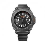 Hugo Boss Orange Collection Black Dial Black Rubber Band Watch 1513106