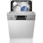 Masina de spalat vase Electrolux ESI4620ROX, Partial Incorporabil, 9 Seturi, Clasa A++, Motor inverter, Latime 45 Cm, 6 Programe, 4 Temperaturi, Panou Comanda Inox