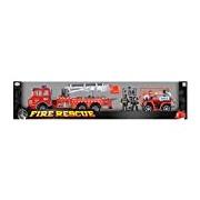 Toyrific Children's Fire Rescue Friction Truck Set with Helmet