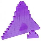 Premium Big Briks Purple Basic Builder Set #1 - 84 Pack - (Big LEGO DUPLO Compatible) - Large Pegs