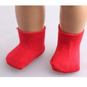 """ELECTROPRIME Girls Toys Solid Red Ankle Socks Fit for 18"""" American Girl Dolls Xmas Gifts"""