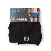 Traders Plain Black Trunks - Black 6XL