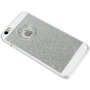 """iPhone 6 (4.7""""), Exclusive Glitter Blingy Sparkling Hard Back Case Cover - silver"""