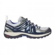 Salomon Ellipse 2 Aero Damen Gr. 6 - blau grau / titan/deep blue/blue - Sportliche Hikingschuhe