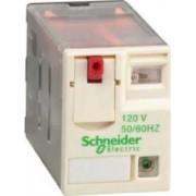 Releu conectabil miniatural - zelio rxm - 4 c/o - 120 v c.a. - 6 a - cu led - Relee de interfata - Zelio relaz - RXM4AB2F7 - Schneider Electric