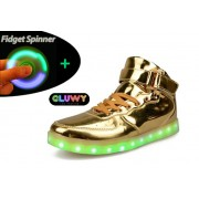 Sneakers tenisky svietiace s LED - zlaté