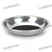 Party Magic Coin en Herramienta Glass Dish Trick Magician - Plata + Negro