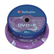 DVD+R 16x Verbatim Matt Silver Azo Tarrina 25 uds