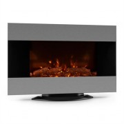 Klarstein Basel Electric Fireplace Heater 2000W LED Remote Control