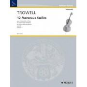 Schott Publishing Trowell: 12 Morceaux Faciles Op.4, Book 4 (Cello & Piano)