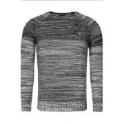 YNS Pánský pletený svetr CRSM tmavomodrý - L