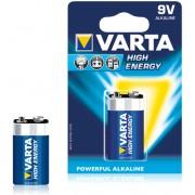 """Varta - Baterie Alkalina """"High Energy"""" 6LR61/PP3 (9V) 1buc/blister"""