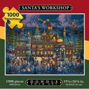 Jigsaw Puzzle - Santas Workshop 1000 Pc By Dowdle Folk Art