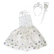 Костюм Снежинка, платье 55 см, ободок, палочка