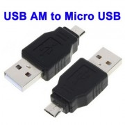 Adaptateur USB A Male vers Micro USB 5 Pin Male