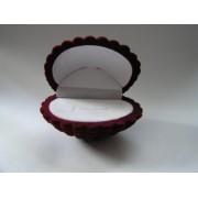 Sametova krabicka na sperky - musle cervena