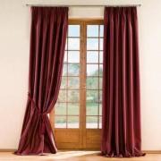 """Vorhang """"Mandria"""", 142 x 280 cm - Weinrot - 2er-Set"""