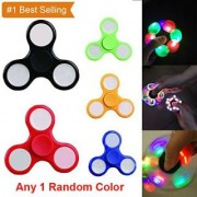 Fidget Spinner with Light Hand Ultra Speed Tri-Spinner Toy Multi Color