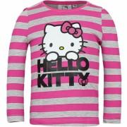 Hello Kitty t-shirt grijs met roze