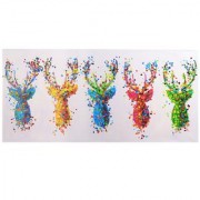 Cuadro CIERVOS 70x140x3,5 cm, pintado a mano al óleo