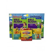 2 3 In 1 Bible Story Books Level Two, 2 Big Book Of Bible Stickers, 10 Pack Playskool Crayons Bundle Set Of 5