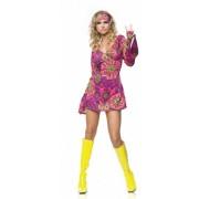Hippie girl jurkje met haarband 38-40 (m/l)