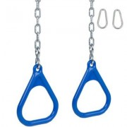 Swing Set Stuff Trapeze Rings with Chains SSS-0031 Color: Blue