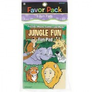 Amscan Fun Filled Summer Jungle Animal Fun Pads Party Activity Multicolor