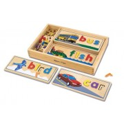 See & Spell Wood Puzzle (Beginning Skills and Activities)