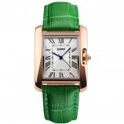 Onloon Momento De La Belleza De La Manera Reloj De La Correa Del Reloj Impermeable, Simple Palabra De Cuarzo Temperamento De Roma Mesa De Estudiante (verde)