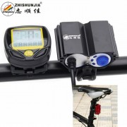 ZHISHUNJIA Bicycle Headlight / Taillight / LCD Wireless Bicycle Mileage Counter - Black