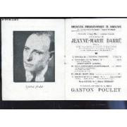 Programme Officiel - Jean-Marie Darre\; Gasto Poulet / Concerto En Mi Bémol N°1 - Deux Mouvements Symphoniques - Symphonie En Si Bémol N°4.
