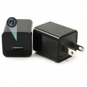 1080P HD Wireless 8GB Camara / EE.UU. enchufes Adaptador Socket Cargador - Negro