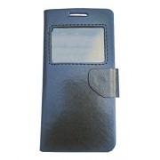 AravStore Premium Sview Flip Cover Case For Panasonic Eluga A2 - Black