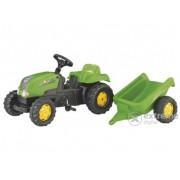 Tractor cu pedale Rolly Kid-X, cu remorcă