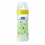Chicco flašica wellbeing 250ml sa cuclom od silikona, unisex