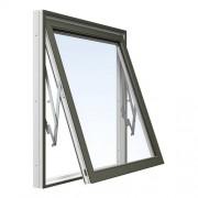 Energi Aluminium Vridfönster 5, 15, Olivgrön