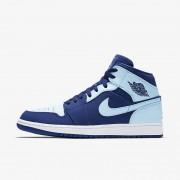 Nike Air Jordan 1 Mid Royal team,Blanco,Azul hielo