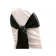Satin Chair Sashes - Black - Packet of 5