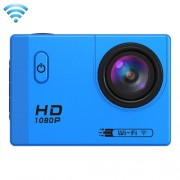 F71 2.0 inch Screen 1080P 170 Degrees Wide Angle WiFi Sport Action Camera Camcorder Support 32GB Micro SD Card HDMI Output(Blue)