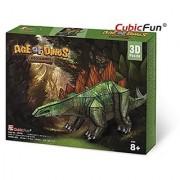 3D Jigsaw Puzzle Stegosaurus CubicFun 3D Puzzle P670h 49 Pieces Decorative Fashion Best Seller Cubic Fun Exiting Fun Ed