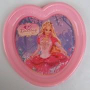 Barbie szív alakú lapostányér