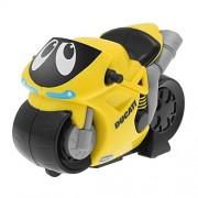 Chicco - Motocicleta Turbo Touch Ducati, recorre más de 10 metros, color amarillo