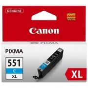 CANON CLI-551XLC, Cyan InkJet Cartridge (BS6444B001AA)