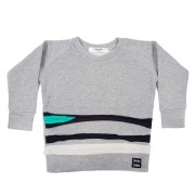 Bluza Fleece Stripes - gri, 8-10 ani