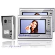 Anykam DT602D+2xDT692 Video Türsprechanlage Gegensprechanlage Zweifamilienhaus 2-Draht