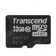 Transcend TS32GUSDHC10 MicroSDHC Memory Card - Black (32GB / Class 10)