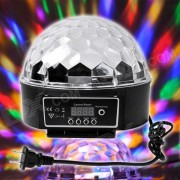 XL-10 Voice Remote Control 18W 6 x LED RGB Crystal Ball Disco DJ Stage Light - Black (AC 90~240V)
