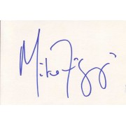 Mike Figgis Autographed Index Card